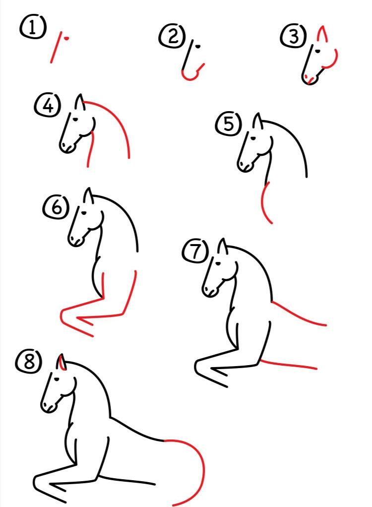 Galloping hest scenen først