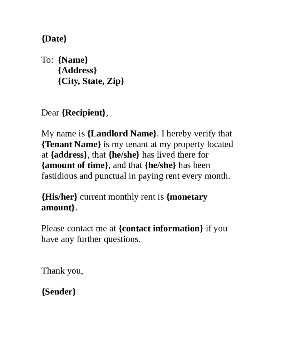 Proof Residency Letter School