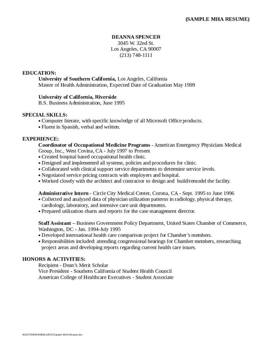 2020 Resume Objective Examples Fillable Printable Pdf