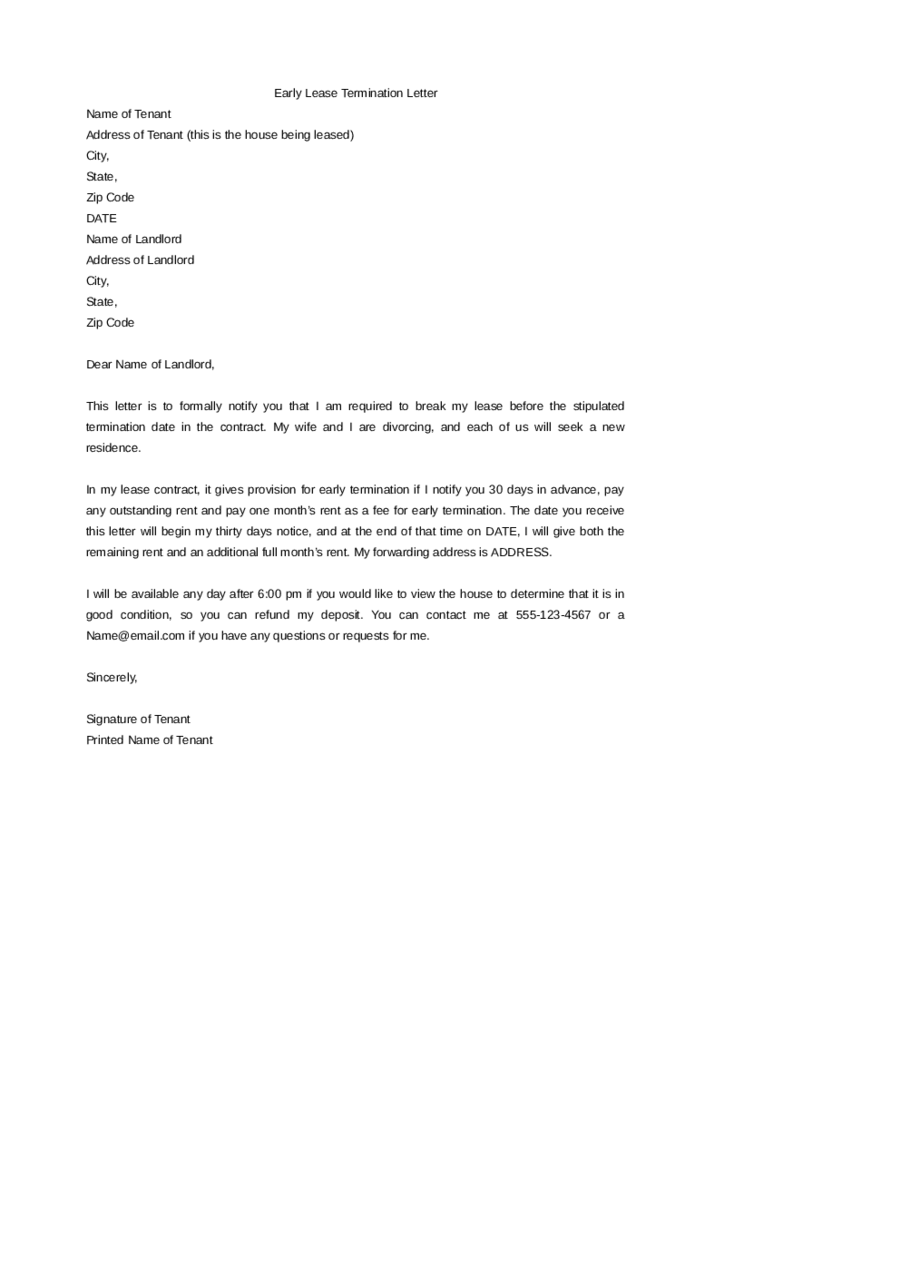 How to write a agreement cancellation letter lvelegant lease cancellation letter altavistaventures Gallery