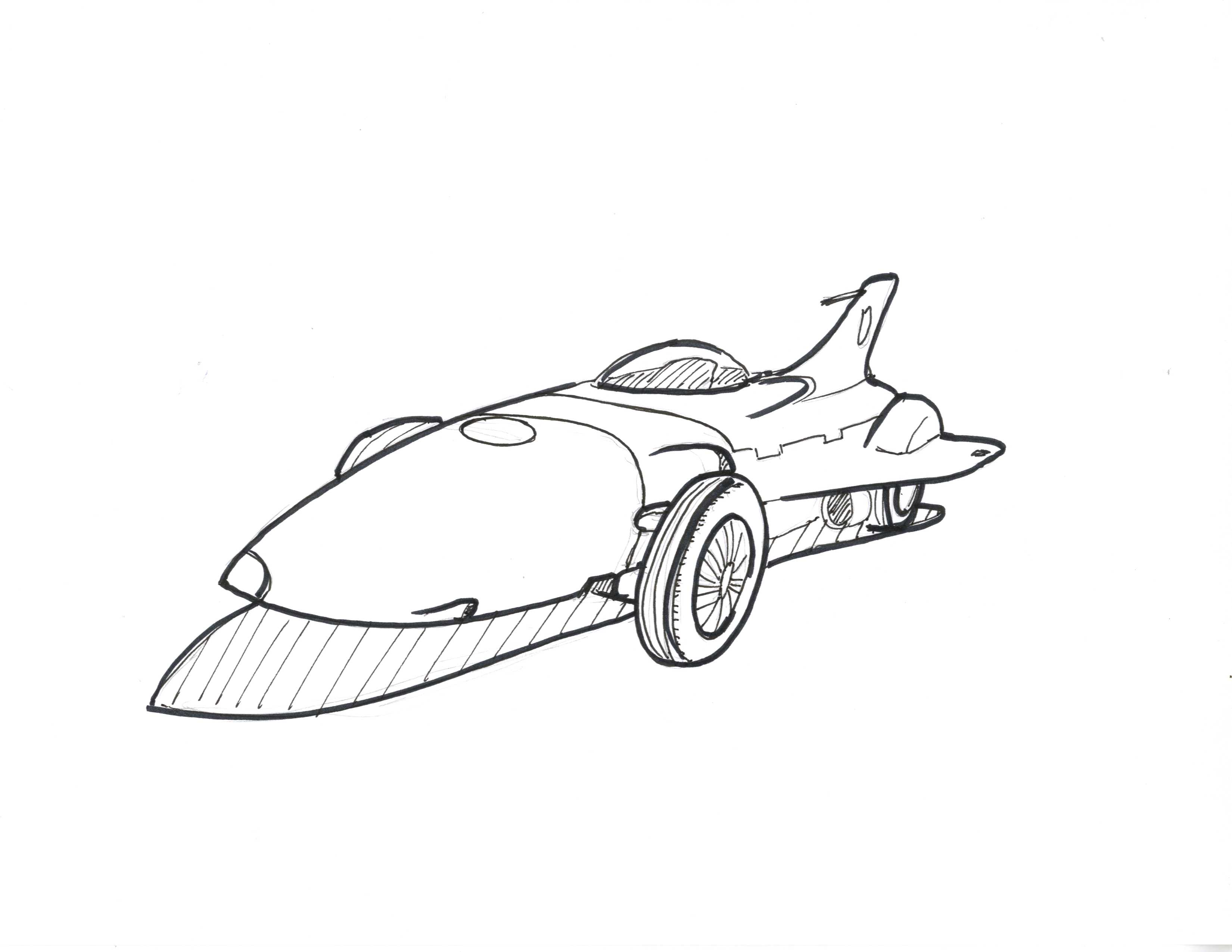 But look at this concept car he made it looks so close to an airplane that it is more like an airplane with four wheels