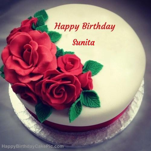 ️ Roses Birthday Cake For Sunita