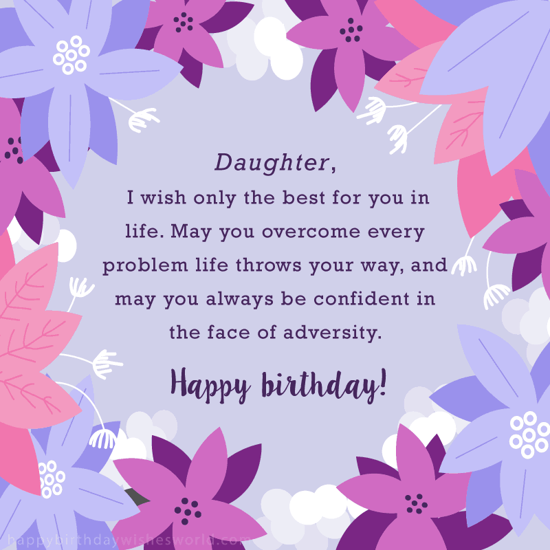 Birthday Happy First Born Greetings My Daughter