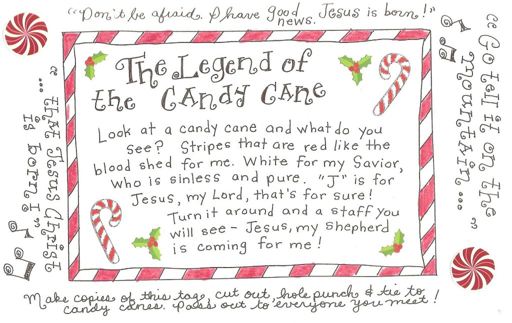 The Legend of the Candy Cane - FREE Printable Tag! - Happy ...