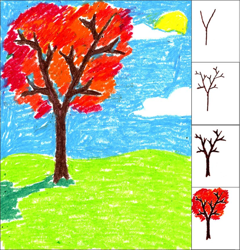 Fall Leaves Draw Easy