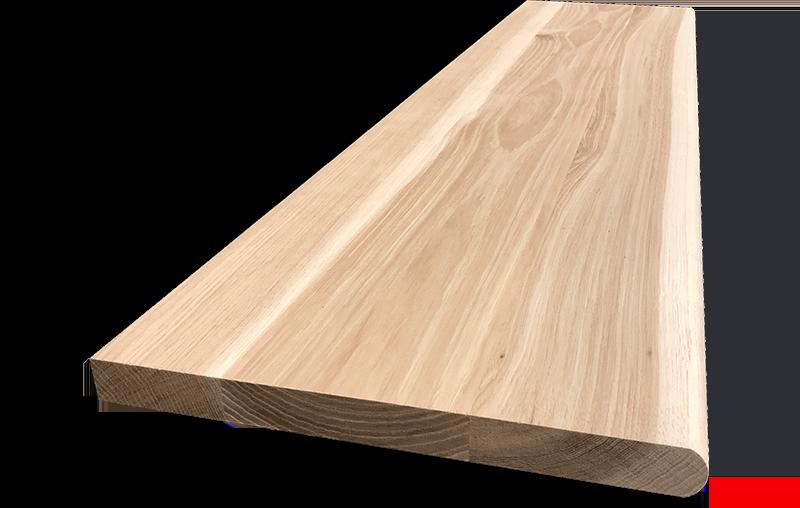 Hickory Hardwood Stair Tread With Return – Blackford Sons | Brazilian Walnut Stair Treads | Laminate | Walnut Ipe Wood | Risers | Ipe Brazilian | Hardwood Flooring