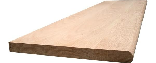 White Oak Hardwood Stair Tread With Return – Blackford Sons | Oak Wood Stair Treads | Hardwood Lumber | Risers | Hardwood Flooring | Solid Oak | Return