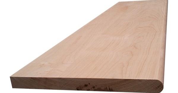 Hard Maple Hardwood Stair Tread With Return – Blackford   Hard Maple Stair Treads