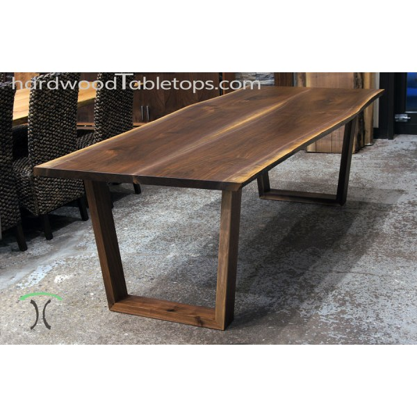 Custom made solid hardwood trapezoid style table legs     Custom Made Trapezoid Legs in Solid Hardwood