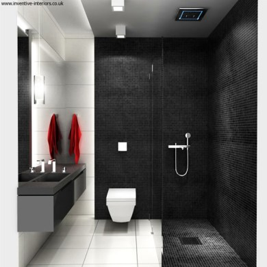 100 Small Bathroom Designs   Ideas   Hative Black And White Small Bathroom Interior Design