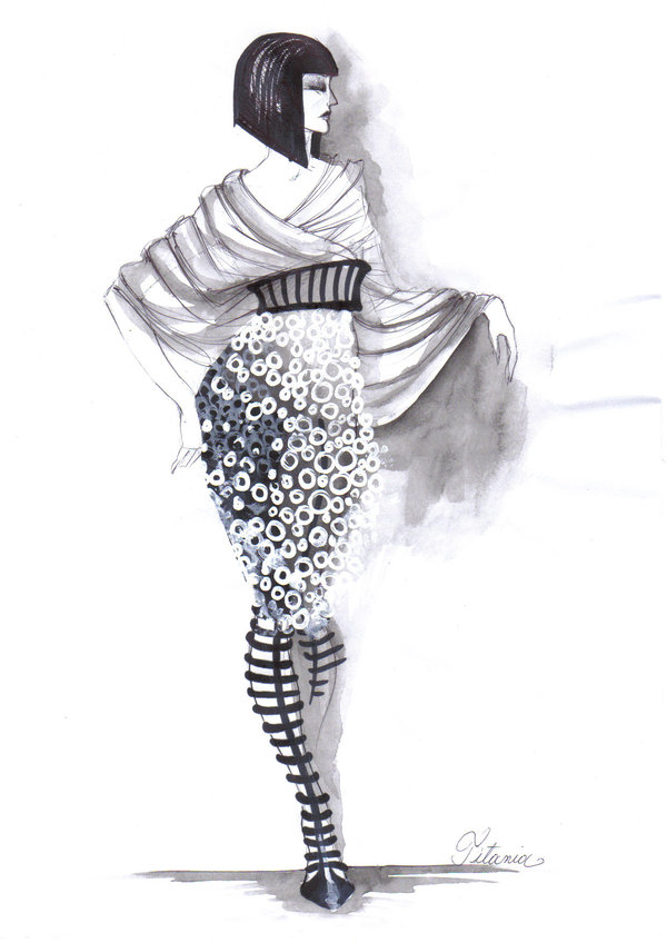 30  Cool Fashion Sketches   Hative Fashion Sketches by Elke Ines Szilier