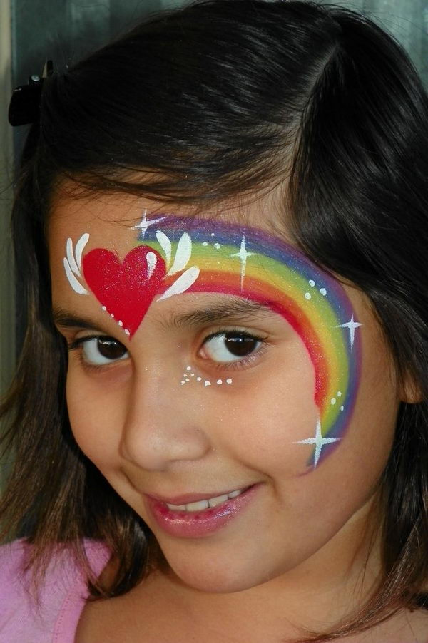 30 Cool Face Painting Ideas For Kids   Hative Cool Face Painting Ideas For Kids  which transform the faces of little ones