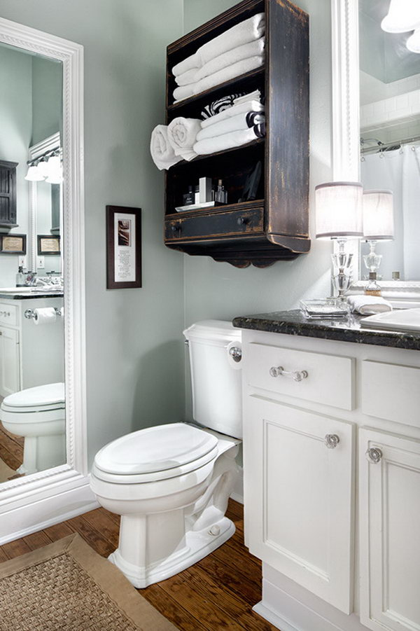 Over The Toilet Storage Ideas for Extra Space - Hative