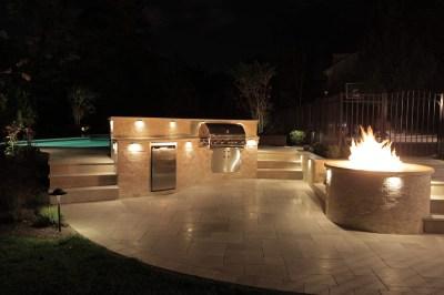 Outdoor kitchen lighting | Hawk Haven