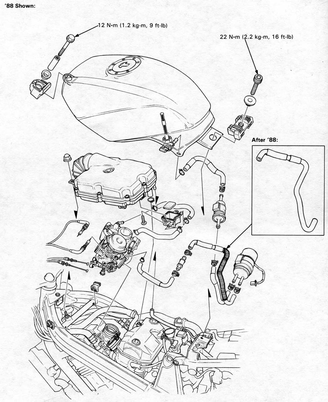 Honda deauville 650 wiring diagram wheretobeco honda nt650 service manual section 4 fuel system