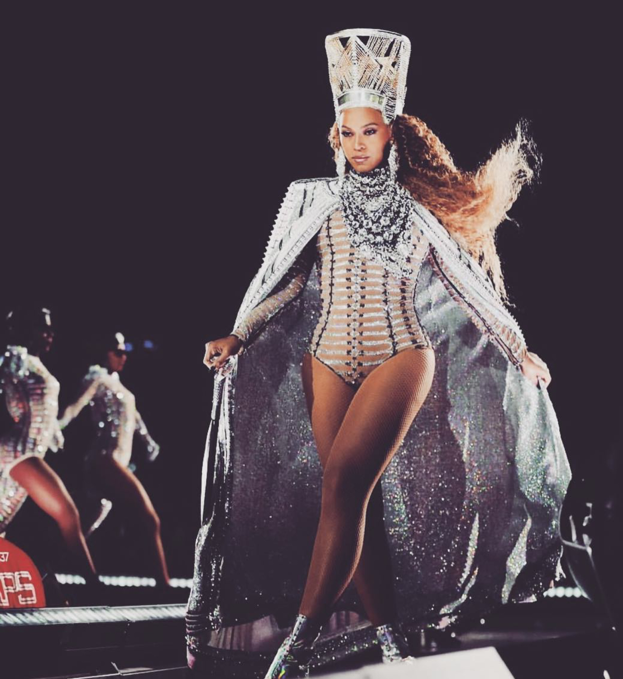 lifestyle     hayjude The two aspects of her Beychella fashion I enjoyed the most were her  Christian Louboutin style boot with holographic fringe detailing and the  custom Balmain