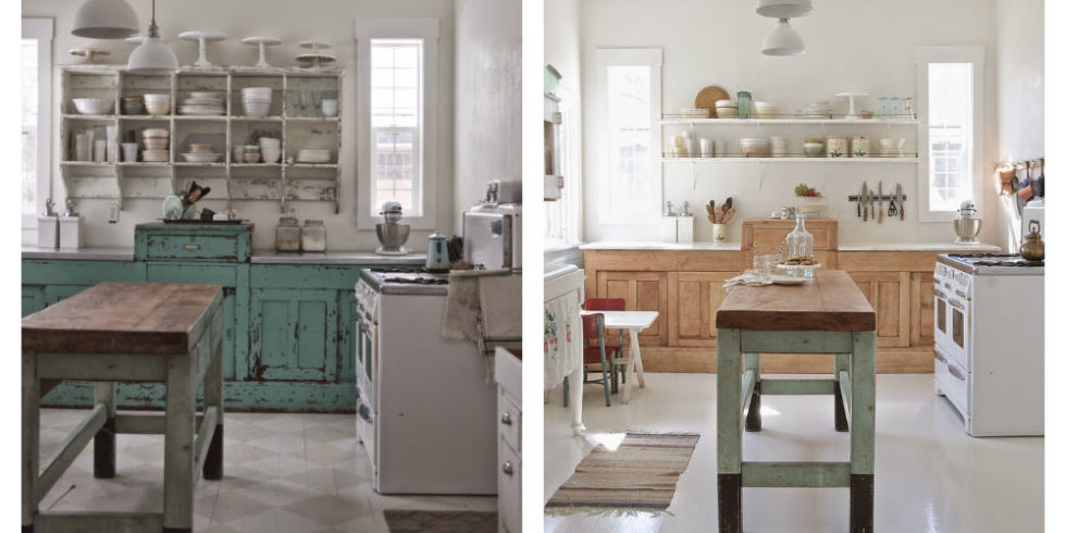 Modern Rustic Kitchen Makeover - White Kitchen Before and ...