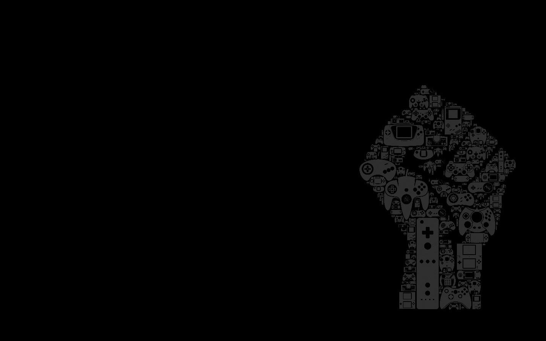 Gaming 2048 Wallpaper Black White And