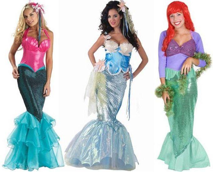 Le personnage sirène se trouve dans les dessins animés de Disney. Ce personnage aime les enfants et les adultes. Par conséquent, les costumes de sirènes cousent les jours fériés du Nouvel An. La combinaison des enfants peut être cousue à la maison. Il a fière allure sur les filles et peut être faite par différentes méthodes.