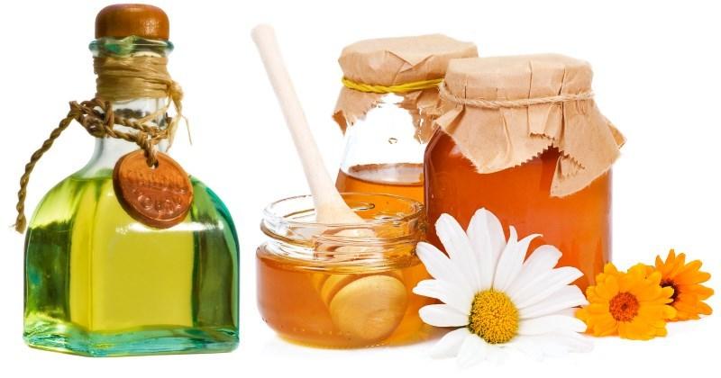 Маска с медом и репейным маслом