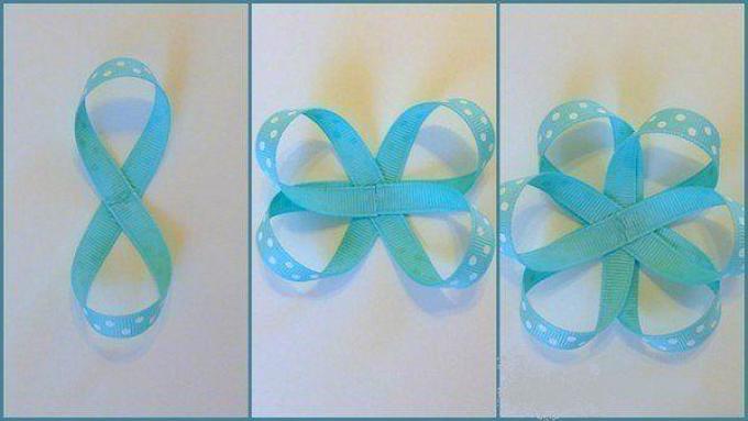 Paano tiklop ang isang manipis na bow ribbon?