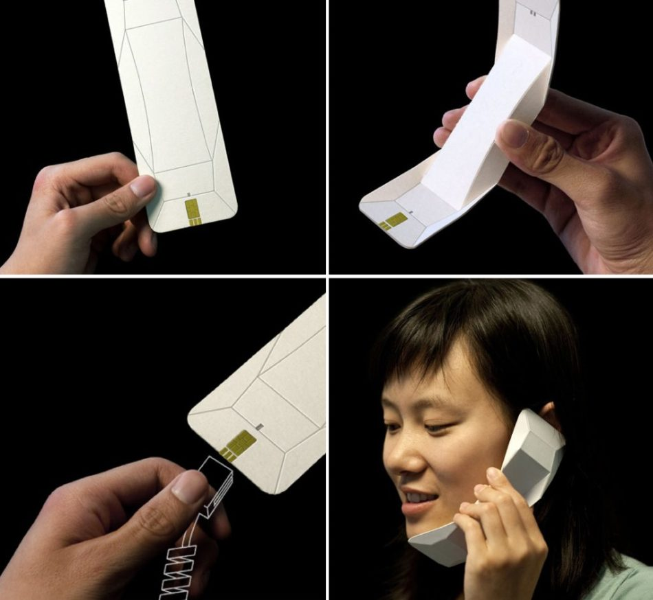 Így létrehoz egy papírtelefon-kagyló.