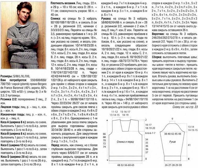 कॉलर शाल के साथ पुरुष स्वेटर