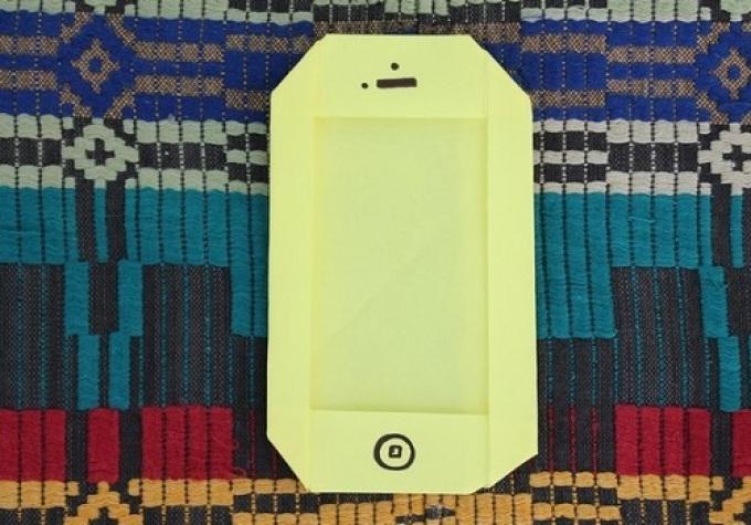Vázlat az origami-telefonon