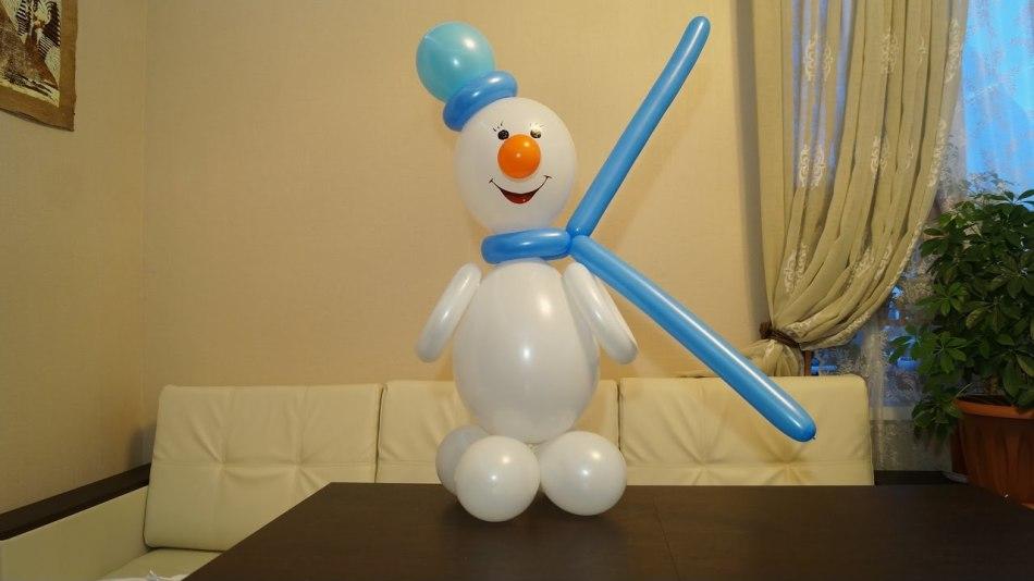 على هذا الرجل الثلجي، يمكن أن ينظر إليه على أن تصنيع لعبة واحدة تحتاج إلى كرات من مختلف الأحجام.