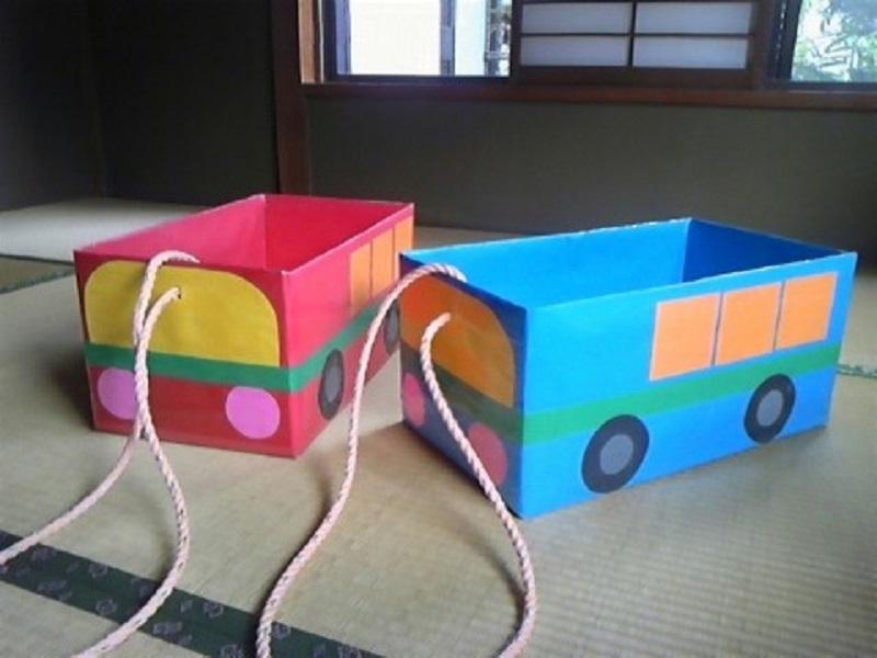 Ящики в виде автобусов