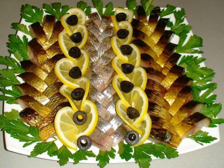 Оформление блюда из копченой рыбы