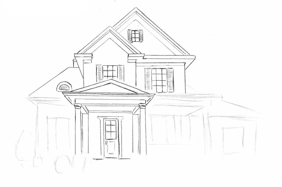 Как-красиво-нарисовать-дом