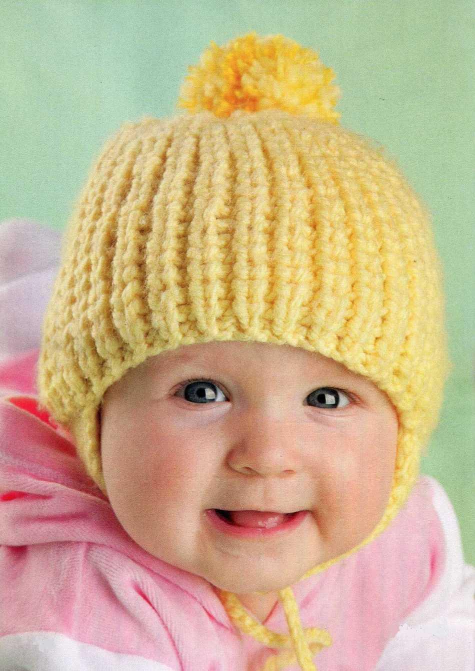 Caps de malha elegantes para uma menina, exemplo 1