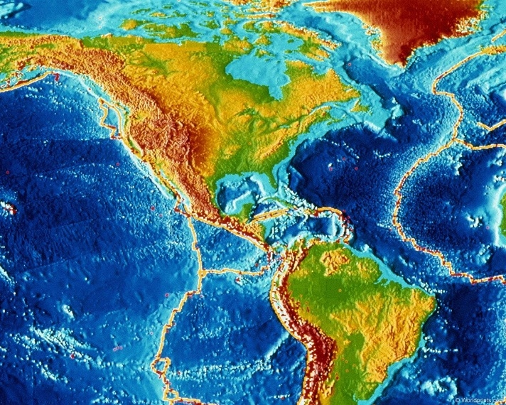 Wajah nipis memisahkan sulfur dan Amerika Selatan