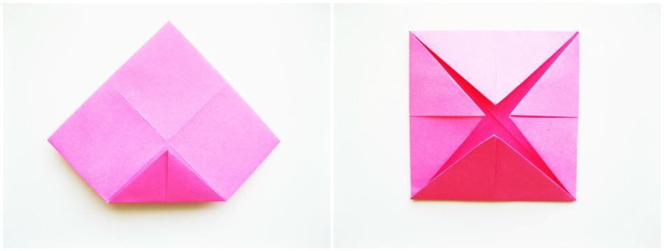 কিভাবে Origami Fortunelock করা: কাজের মধ্যবর্তী পর্যায়ে