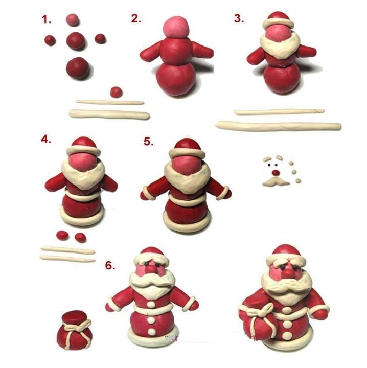 用橡皮泥创建漂流素的圣诞老人图的序列作为熔炼的样品,实施例2