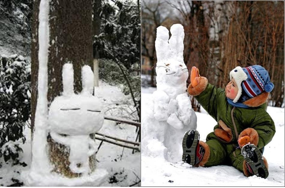 与盐味的野兔的夫妇照片