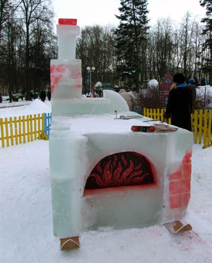 来自雪的俄罗斯烤箱,穿上滑雪板