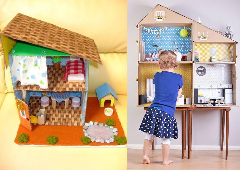 Многоквартирный дом из картонных ящиков