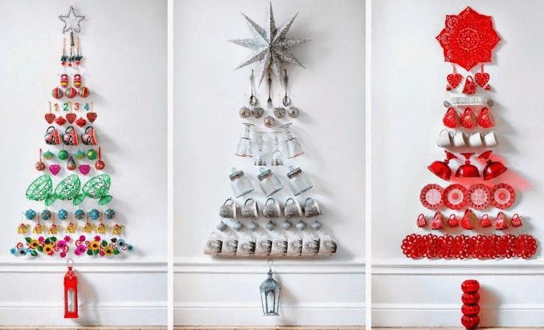 Joulupuita seinään tekevät sen itse