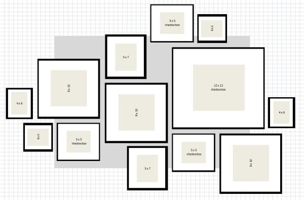 ikea ribba gallery wall layout # 3