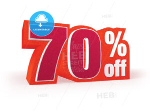 70 percent off red wool styled discount price sign - Hebstreits