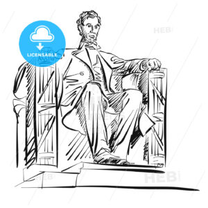Abraham Lincoln Freehand Sketch - Hebstreits