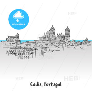 Cadiz, Portugal Panorama Greeting Card - Hebstreits