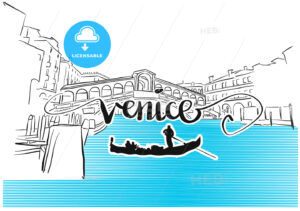 Famous Venice Rialto Bridge Greeting Card Design - Hebstreits