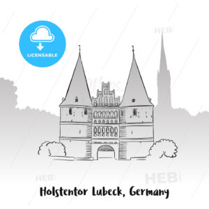 Holstentor Lubeck Greeting Card - Hebstreits