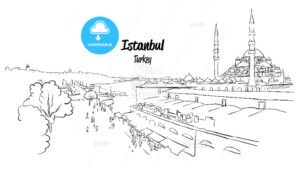 Istanbul Historic Market Skyline Panorama, - Hebstreits