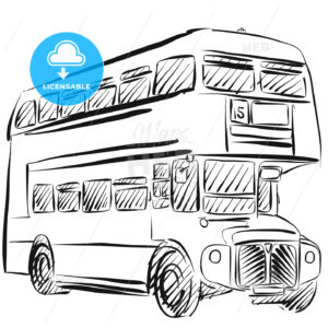 London Bus Freehand Sketch - Hebstreits