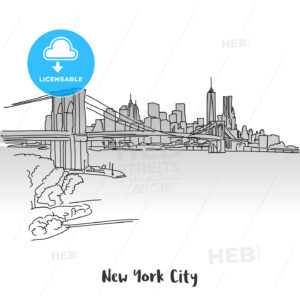 NYC Skyline Greeting Card Design - Hebstreits