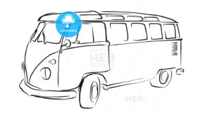 Old Transporter Sketch, Vector Drawing - Hebstreits